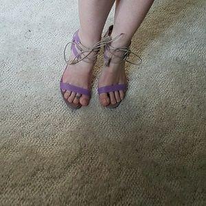 Manolo Blahnik lilac heels size 37